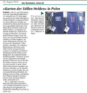 Der Reinbeker 25.08.2014